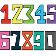 Numbers set — Stock Photo #5196389