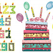 Birthday set — Stock Photo