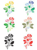 Set.Roses — Stock Photo