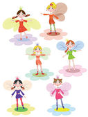 Fairies set — Stock Vector