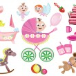 Baby girl icons — Stock Photo #5282025
