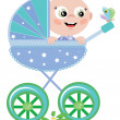 Baby boy in the carriage — Stock Photo