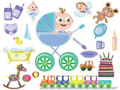 Baby boy icons — Stock Photo