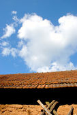 Clay tiles roof — Stock Photo