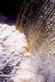 Pond water flow — Stock Photo