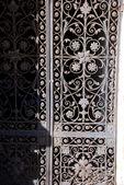 Ancient door made of steel — Stock Photo