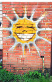 Cheerfull smiling sun — Stock Photo