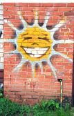 Cheerfull smiling sun — Stock Photo
