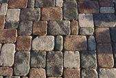 Cobbled street fragment — Stock Photo