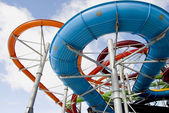 Colorful water park tubes — Stock Photo
