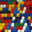 Stock Photo: Perspective of rows multicolored seats on sport tribune