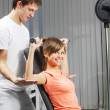 Exercise in health club — Stock Photo #4858009