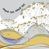 Autumn river landscape — Stock Vector