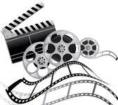 Film film film — Stock Vector
