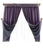 Velvet curtains — Stock Photo