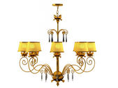 Gold chandeliers — Stock Photo
