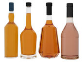 Bottles of brandy — Stock Photo