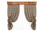 Kantri curtains — Stock Photo