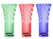 Colored crystal vases — Stock Photo