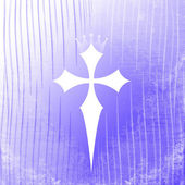 Fancy Purple Cross — Stock Photo