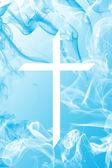 Blue Smoke Cross — Stock Photo