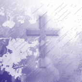 Purple Splatter Cross — Stock Photo