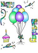 Birthday Clip Art — Stock Photo