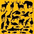 Royalty-Free Stock Vektorgrafik: Wild Animals