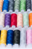 Background from coils with threads — Stock Photo