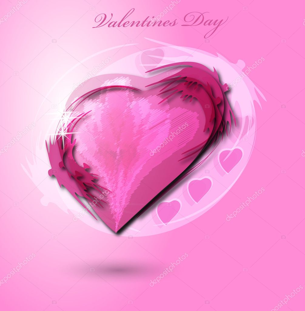 Valentine background, eps10  Imagens vectoriais em stock #4854711