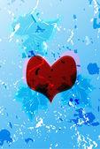 Alla hjärtans bakgrunden — Stockvektor