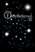 Vector, night starry sky — Vettoriale Stock