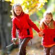 Stock Photo: Kids in Forest