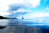 湖上船します。 — ストック写真