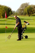 Funny Golfer — Stock Photo