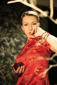 赤い着物日本 — ストック写真