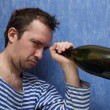 Last drop of wine — Stock Photo