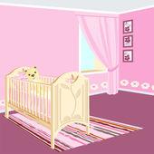 Room for girls. — Stock Vector