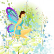 Young butterfly — Stock Vector