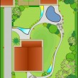 Vector de stock : Landscape design