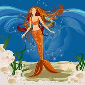 Mermaid — Stock Vector