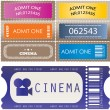 Tickets in different styles - vector — Stock Vector #4831982