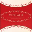 Red-white vintage background — Stock Vector