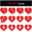 Hearts icon — Stock Vector