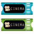 Movie ticket - Stockvectorbeeld