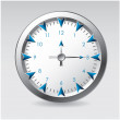 Vector illustration of a clock — Stock Vector