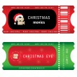 Stock Vector: Tickets for Christmas Eve