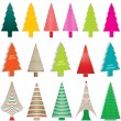 Royalty-Free Stock Vector Image: Set of colorful christmas trees illustrations vector
