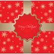 Abstract Christmas background with snowflakes - Stock vektor