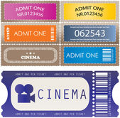 Tickets in different styles - vector — Stock Vector